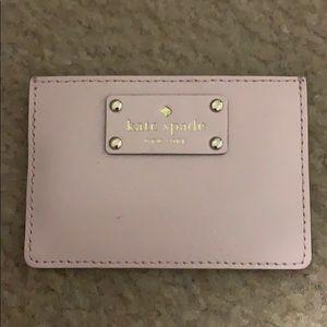 Kate Spade light pink card holder